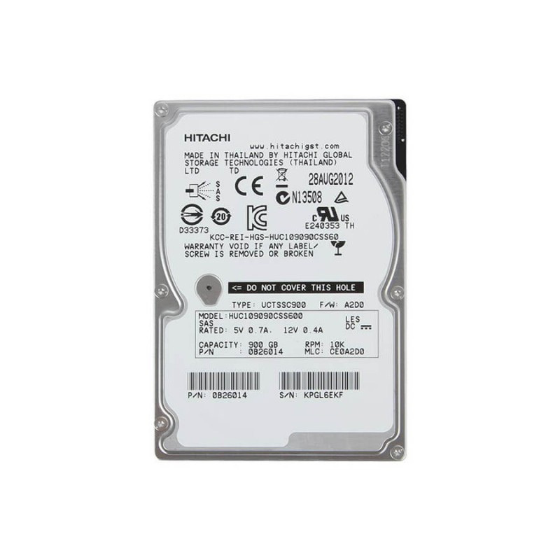 HDD Servere second hand HGST Ultrastar HUC109090CSS600 900GB 10K RPM SAS 6Gb/s 2.5