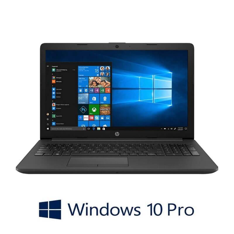 Laptop HP 255 G7, AMD Ryzen 3 2200U, 256GB SSD, 15.6 inci, Webcam, Win 10 Pro