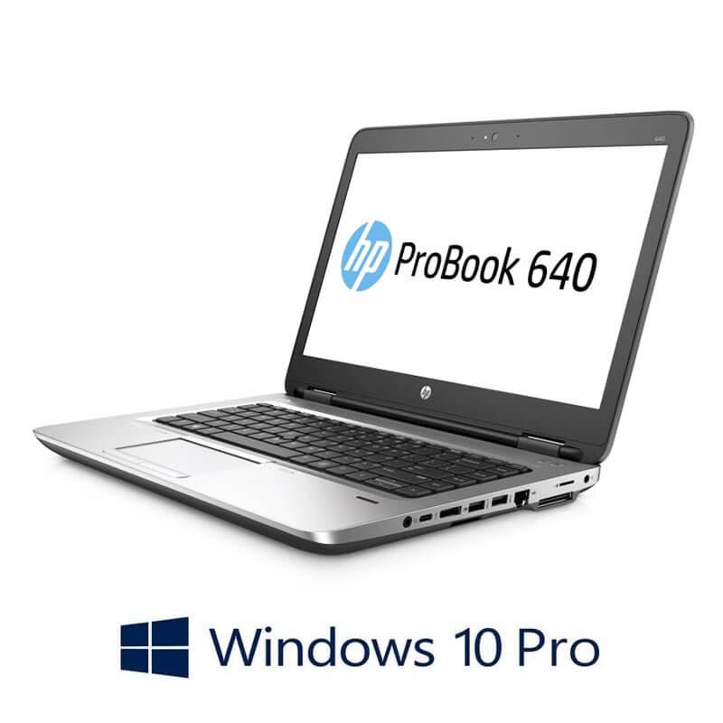Laptop HP ProBook 640 G2, Core i3-6100U, SSD, Webcam, Win 10 Pro