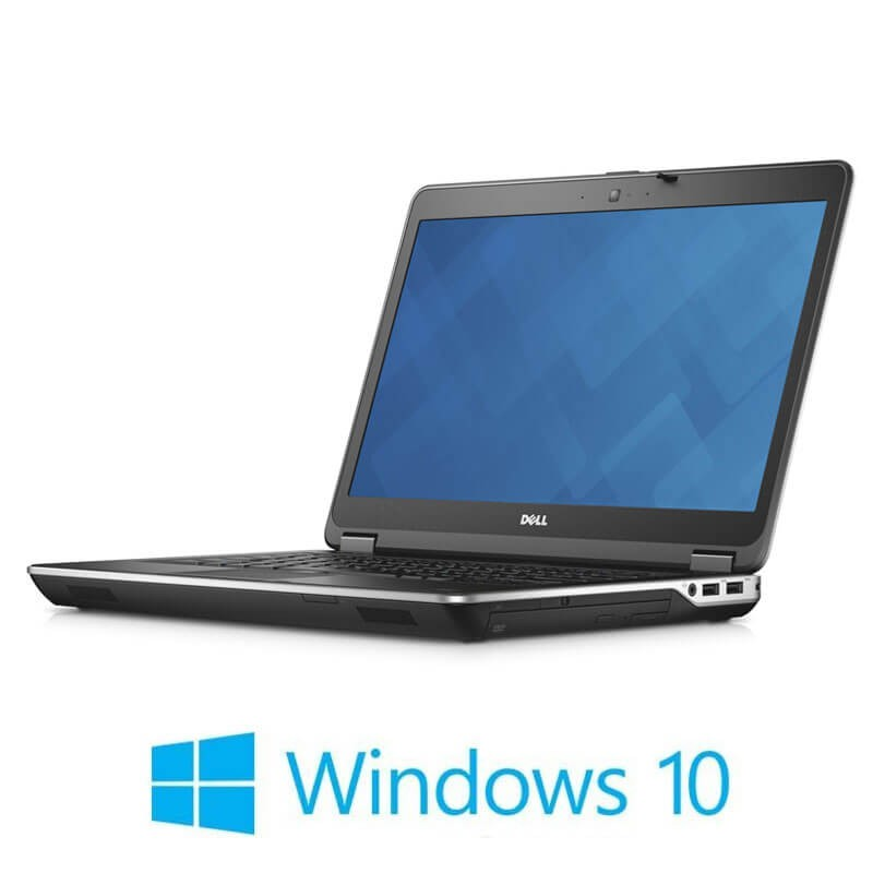 Laptop Refurbished Dell Latitude E6440, i7-4600M, 256GB SSD, Webcam, Win 10 Home