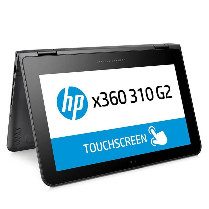 Laptopuri Touchscreen second hand HP x360 310 G2, Quad Core N3700, 128GB SSD, IPS, Webcam