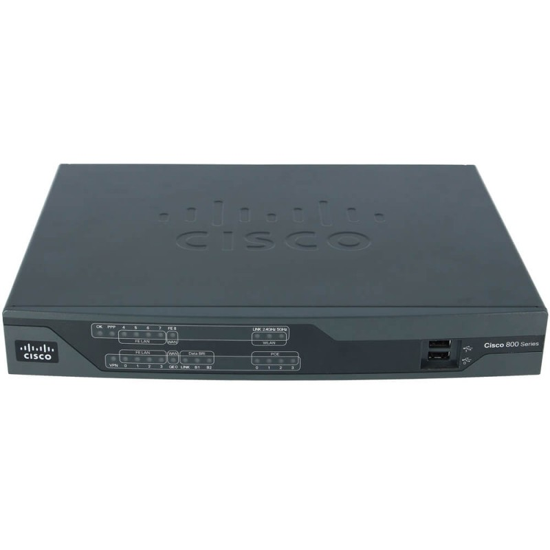 Router Cisco 800 Series, C886VA-K9, Multimode VDSL2/ADSL2/2+ over ISDN