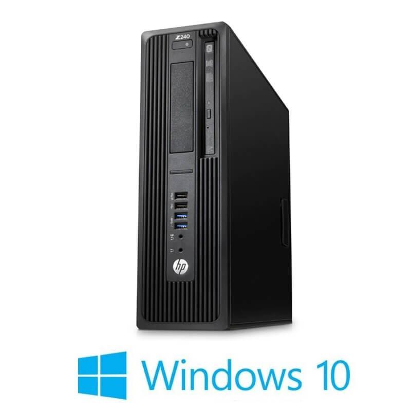 Statie grafica HP Z240 SFF, Quad Core i7-6700K, 240GB SSD, Quadro K420, Win 10 Home