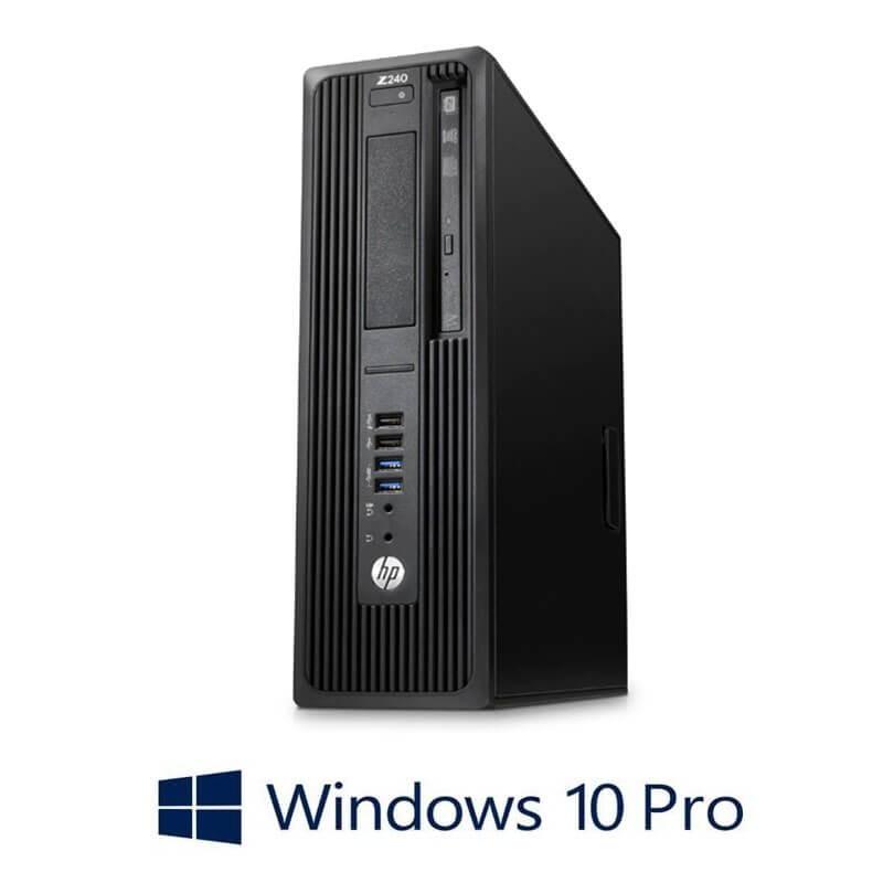 Statie grafica HP Z240 SFF, Quad Core i7-6700K, 240GB SSD, Quadro K420, Win 10 Pro