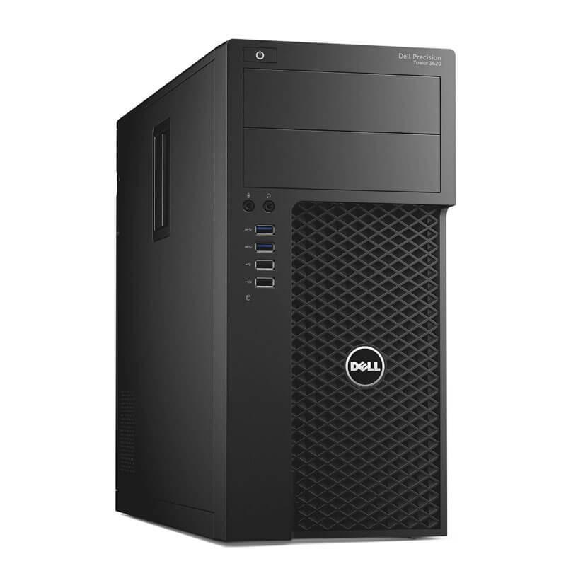 Statie grafica second hand Dell Precision 3620 MT, Quad Core i7-7700K, 256GB SSD, Quadro M2000