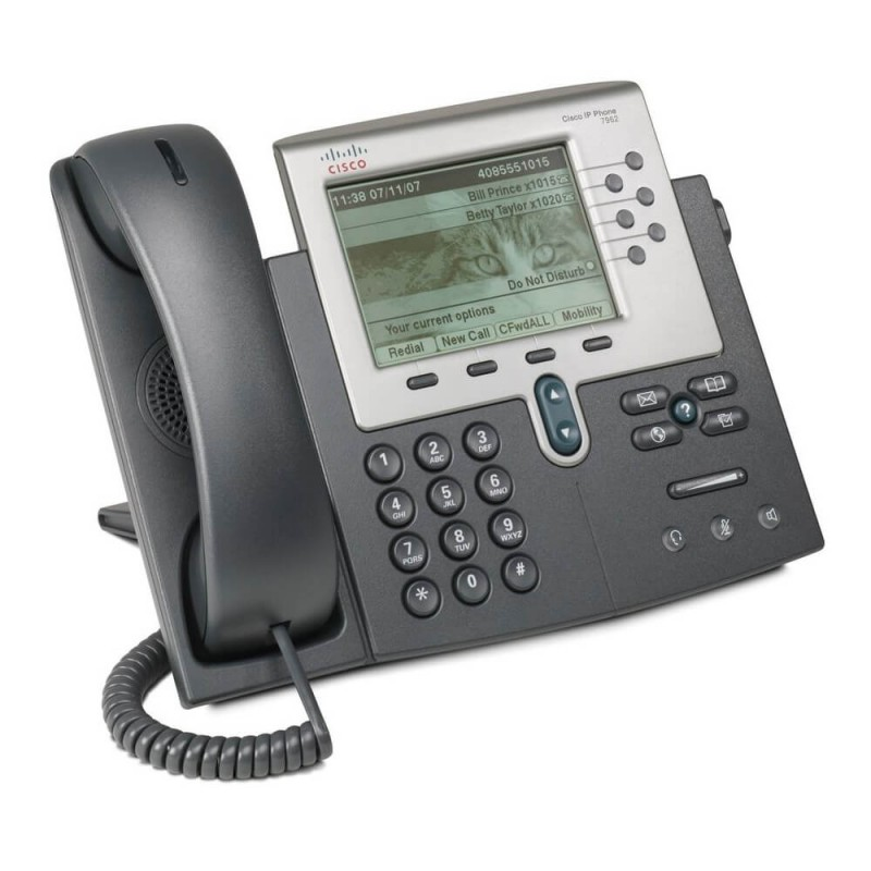 Telefon VoIP Cisco Unified CP-7962G, DHCP, Display 5 inch